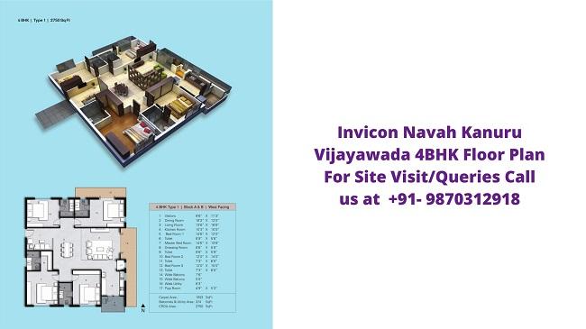 Invicon Navah Kanuru Vijayawada 4bhk floor plan