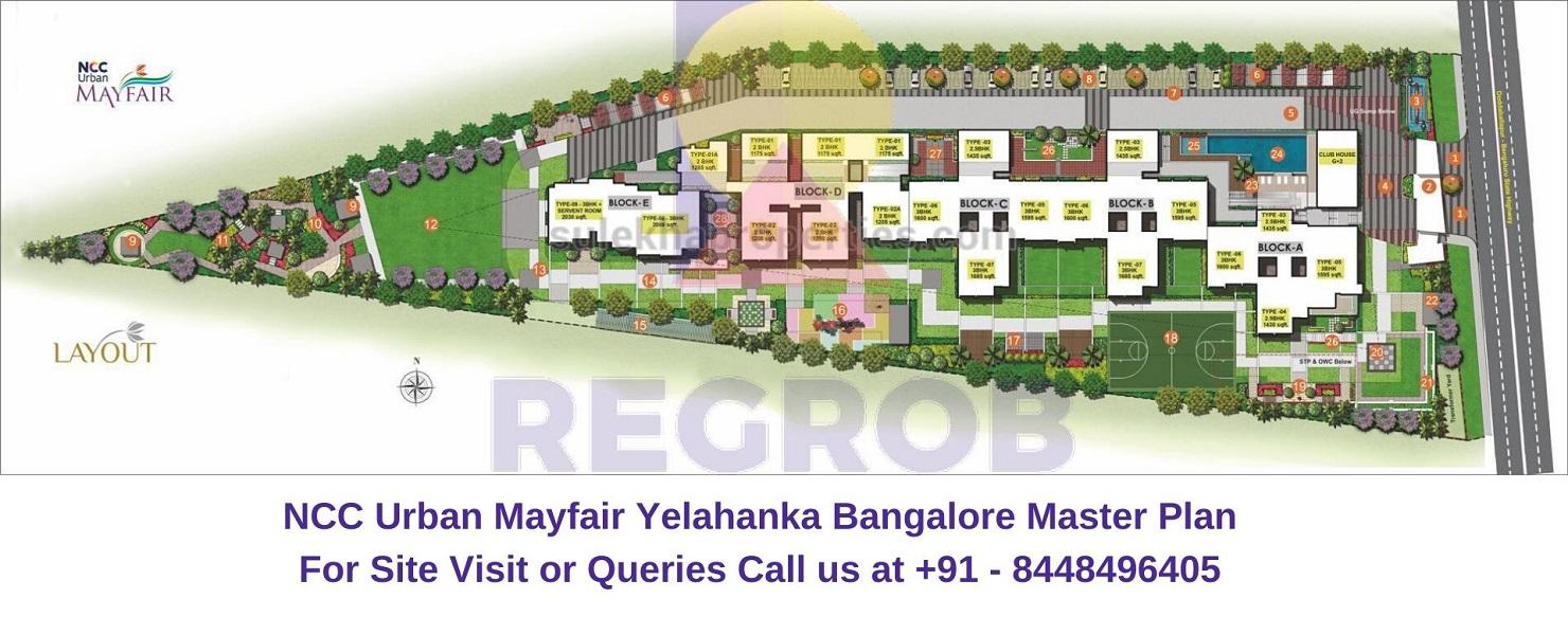 NCC Urban Mayfair Yelahanka Bangalore Master Plan