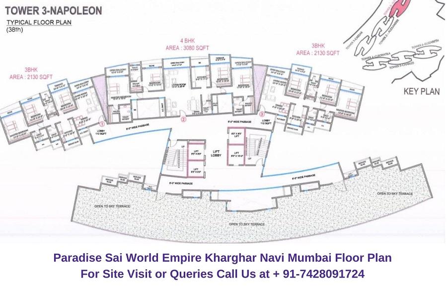Paradise Sai World Empire Kharghar Navi Mumbai Floor Plan (1)