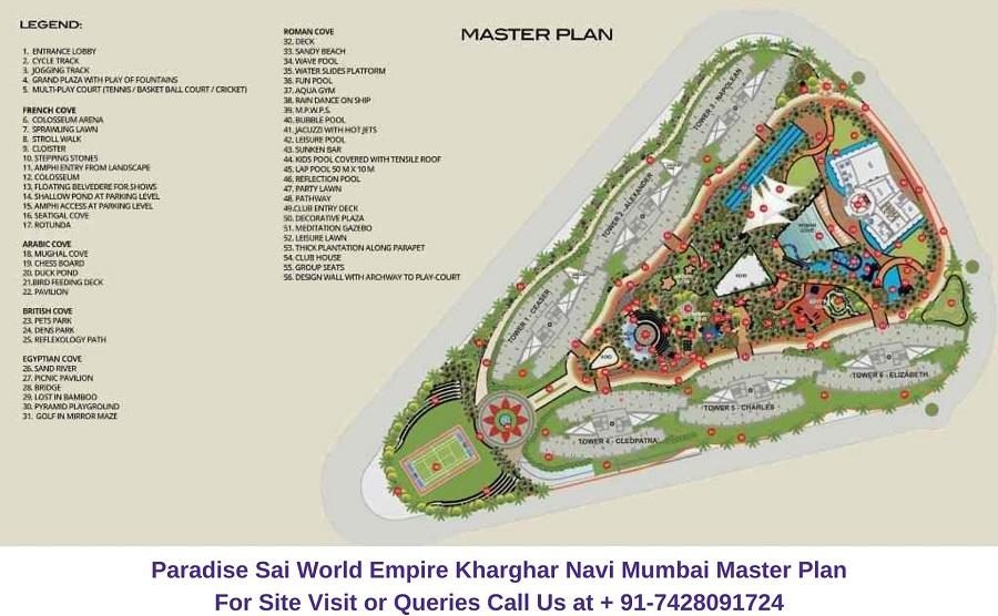 Paradise Sai World Empire Kharghar Navi Mumbai Master Plan