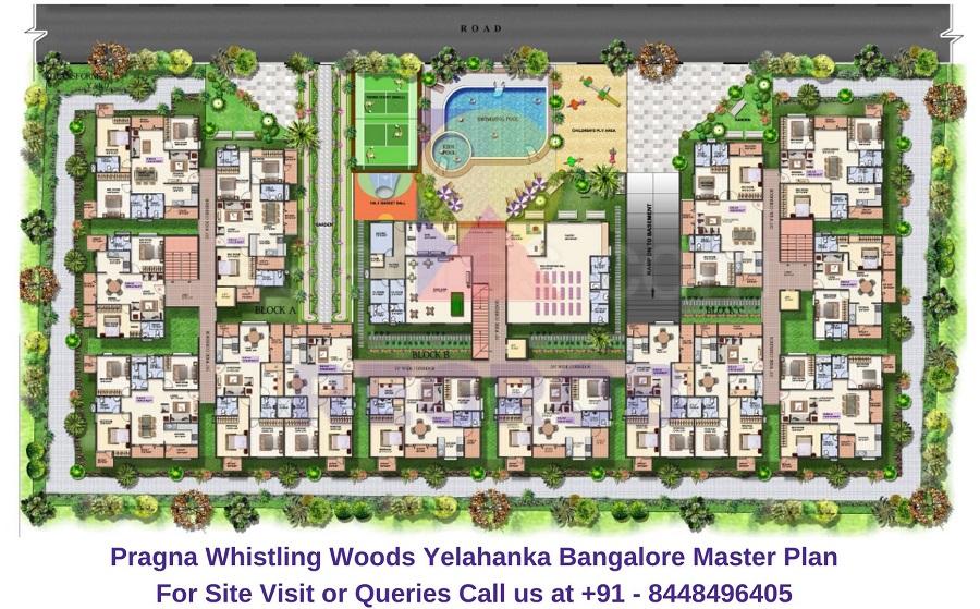 Pragna Whistling Woods Yelahanka Bangalore Master Plan