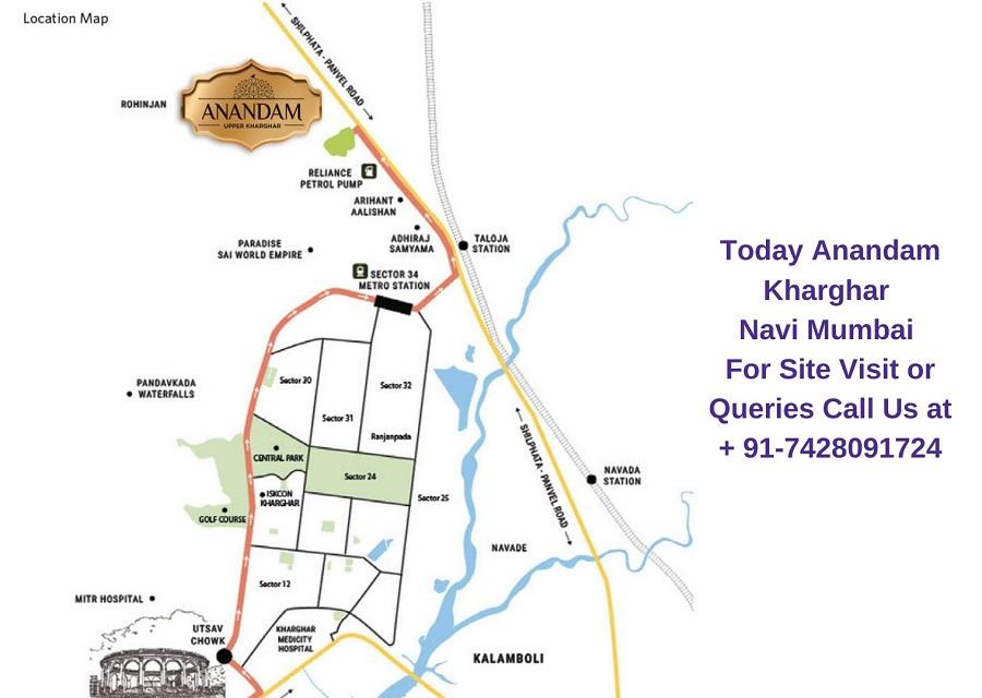 Today Anandam Kharghar Navi Mumbai Location Map