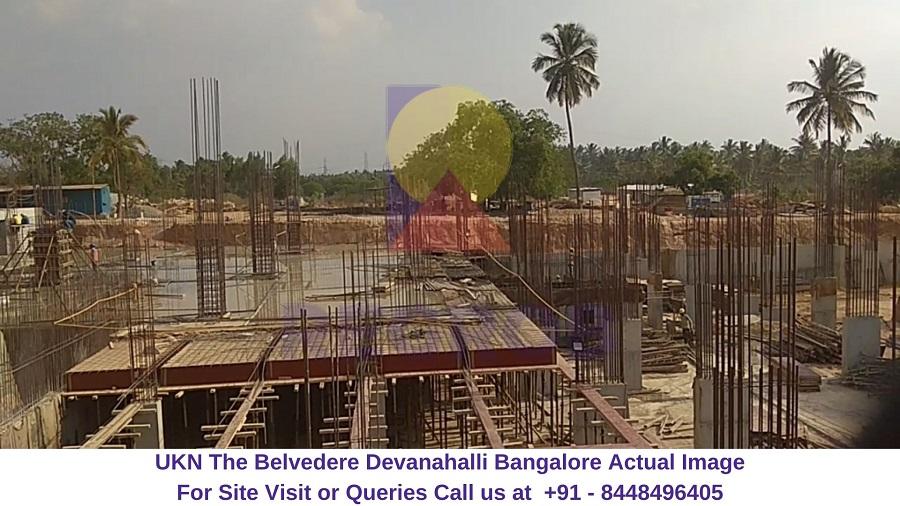 UKN The Belvedere Devanahalli Bangalore Construction Site