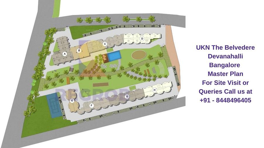 UKN The Belvedere Devanahalli Bangalore Master Plan