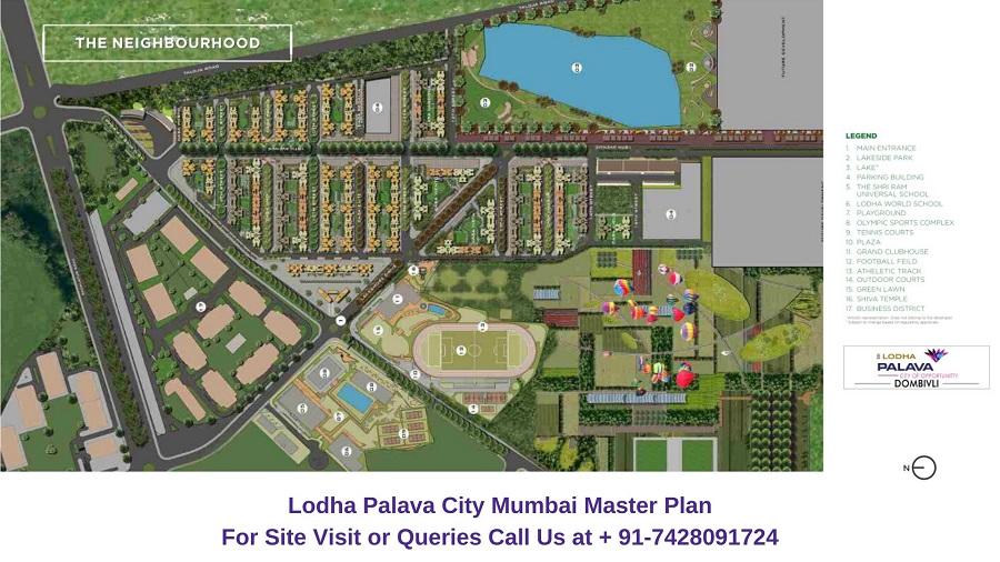 Lodha Palava City Dombivli Mumbai Master plan