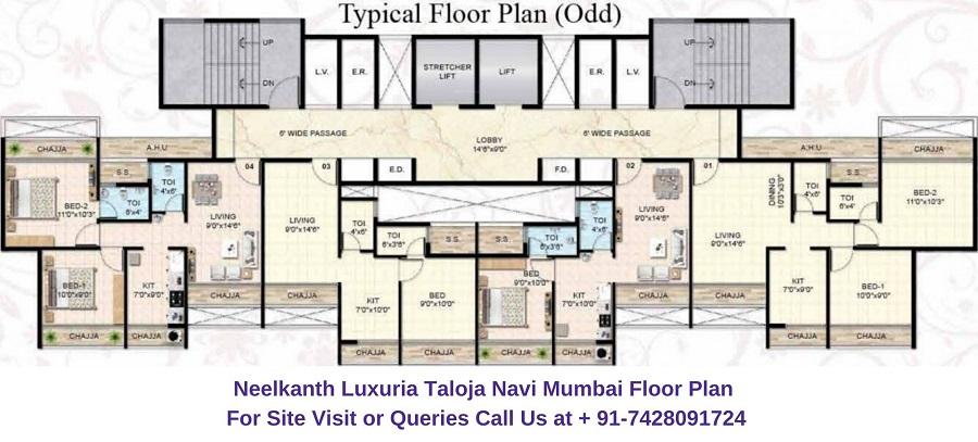 Neelkanth Luxuria Taloja Navi Mumbai Floor Plan (2)