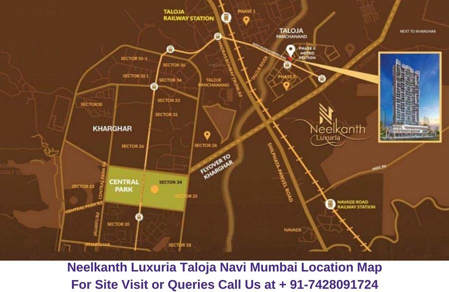 Neelkanth Luxuria Taloja Navi Mumbai Location Map