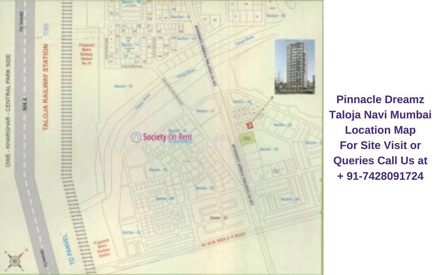 Pinnacle Dreamz Taloja Navi Mumbai Location Map