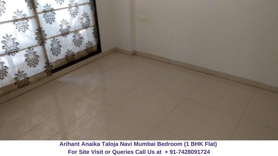 Arihant Anaika Taloja Navi Mumbai 1 BHK Flat Bedroom