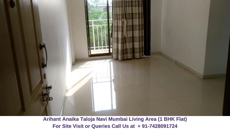 Arihant Anaika Taloja Navi Mumbai 1 BHK Flat Living Area