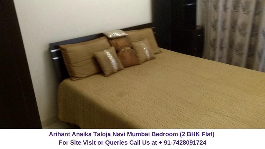 Arihant Anaika Taloja Navi Mumbai 2 BHK Flat Bedroom (1)