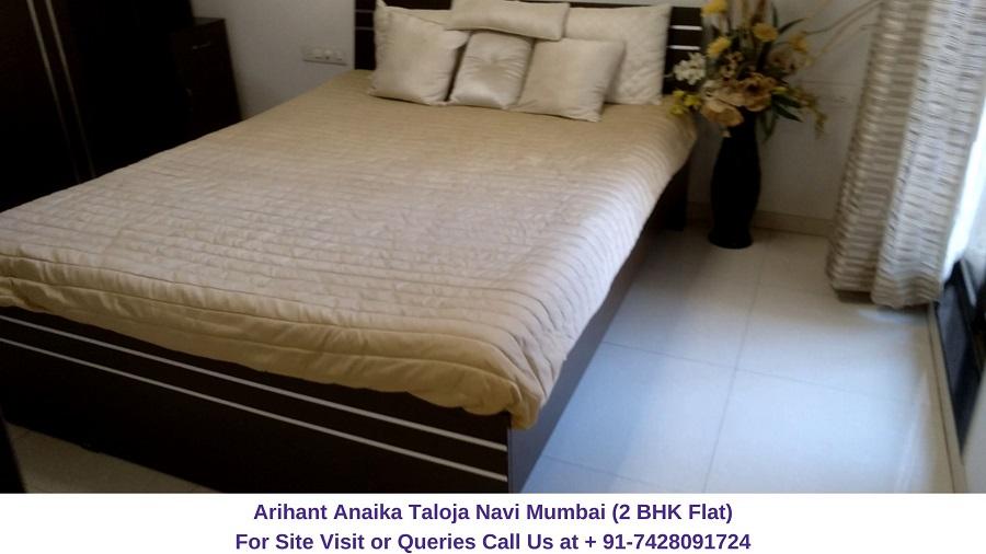 Arihant Anaika Taloja Navi Mumbai 2 BHK Flat Bedroom (2)