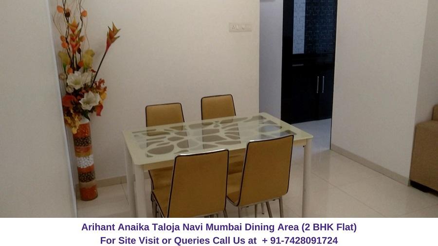 Arihant Anaika Taloja Navi Mumbai 2 BHK Flat Dining Area