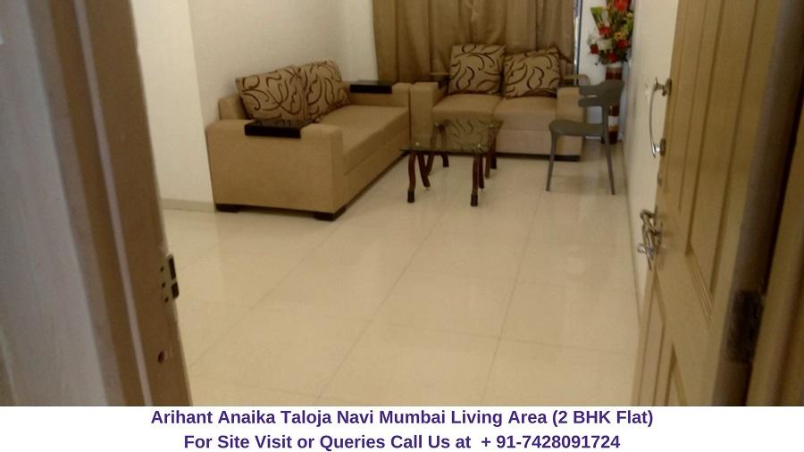 Arihant Anaika Taloja Navi Mumbai 2 BHK Flat Living Area