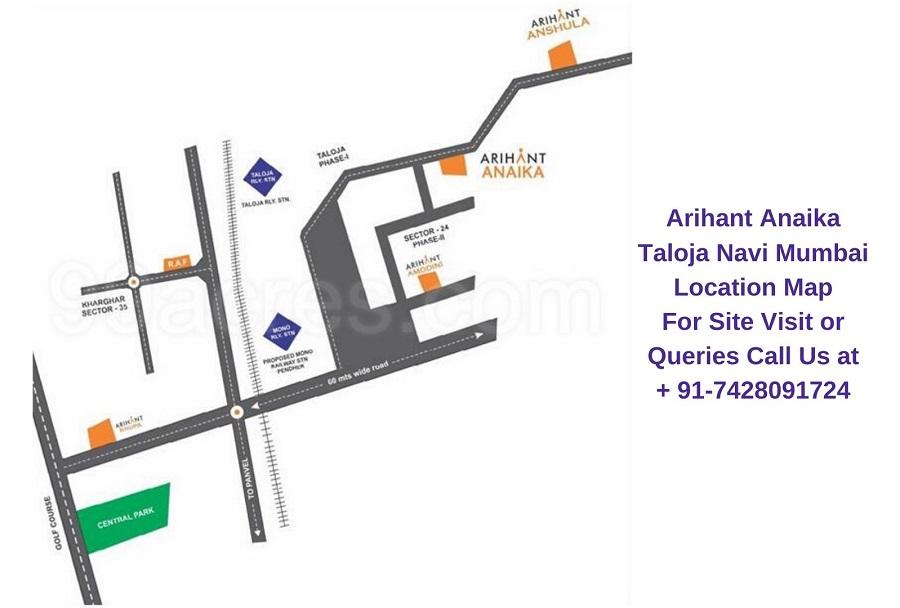 Arihant Anaika Taloja Navi Mumbai Location Plan