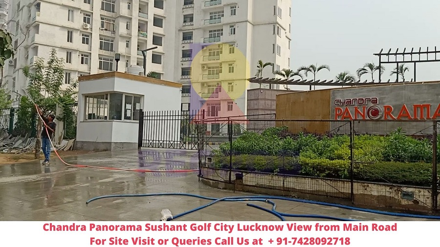 Chandra Panorama Sushant Golf City Lucknow Actual View of Project (1)