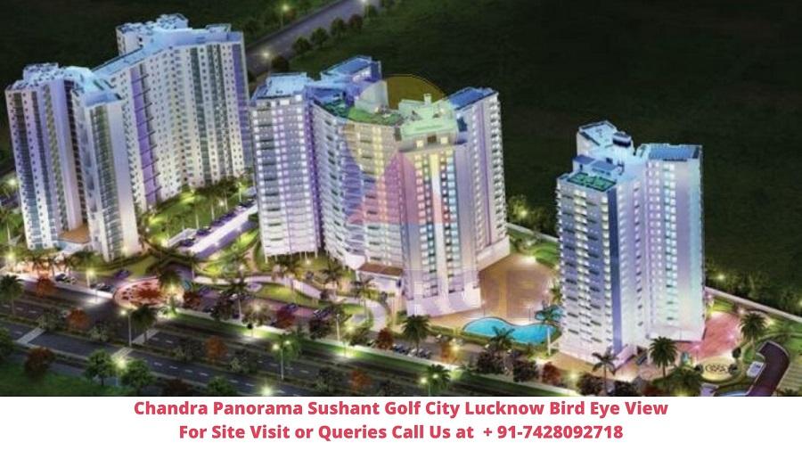 Chandra Panorama Sushant Golf City Lucknow Bird Eye View