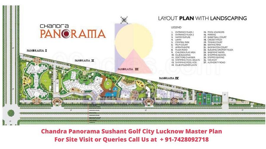 Chandra Panorama Sushant Golf City Lucknow Master Plan