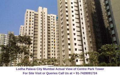 Lodha Palava City Mumbai Actual View of Centre Park Tower (1)