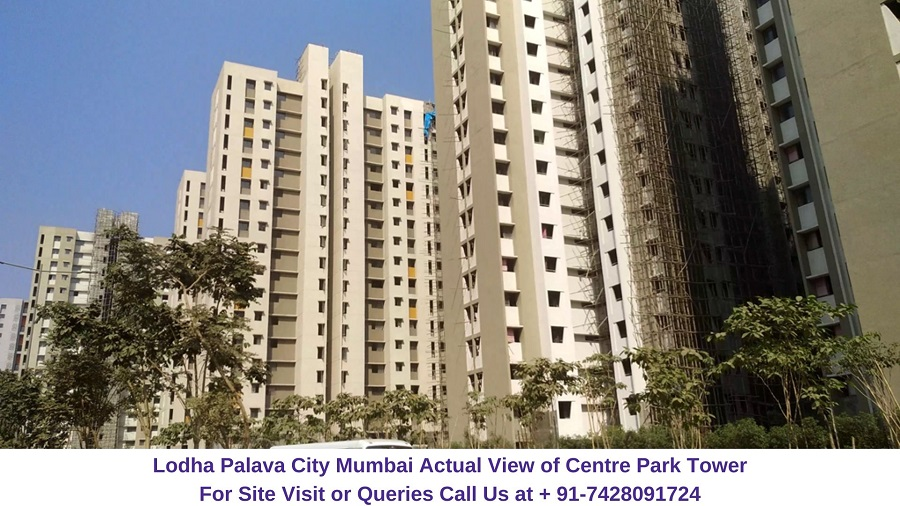 Lodha Palava City Mumbai Actual View of Centre Park Tower (1)