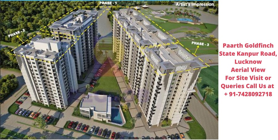 Paarth Goldfinch State Kanpur Road, Lucknow Aerial View