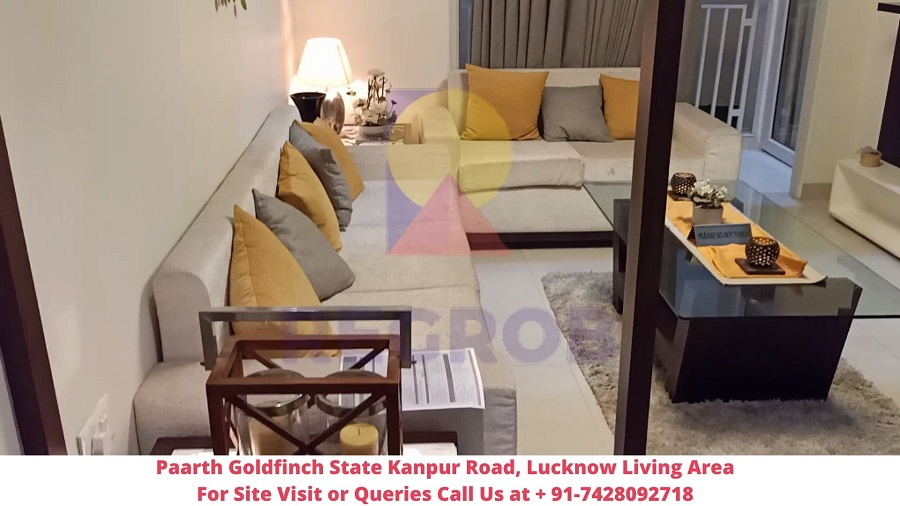Paarth Goldfinch State Kanpur Road, Lucknow Living Area