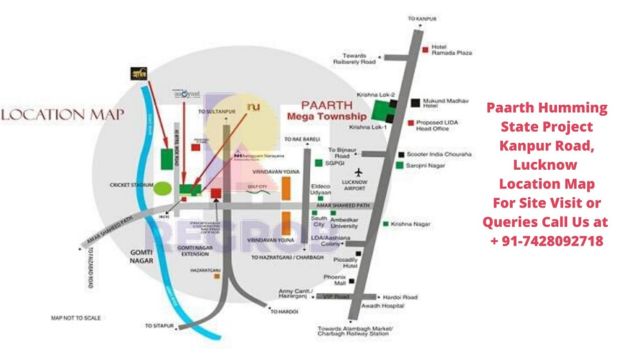 Paarth Humming State Project Kanpur Road, Lucknow Location Map