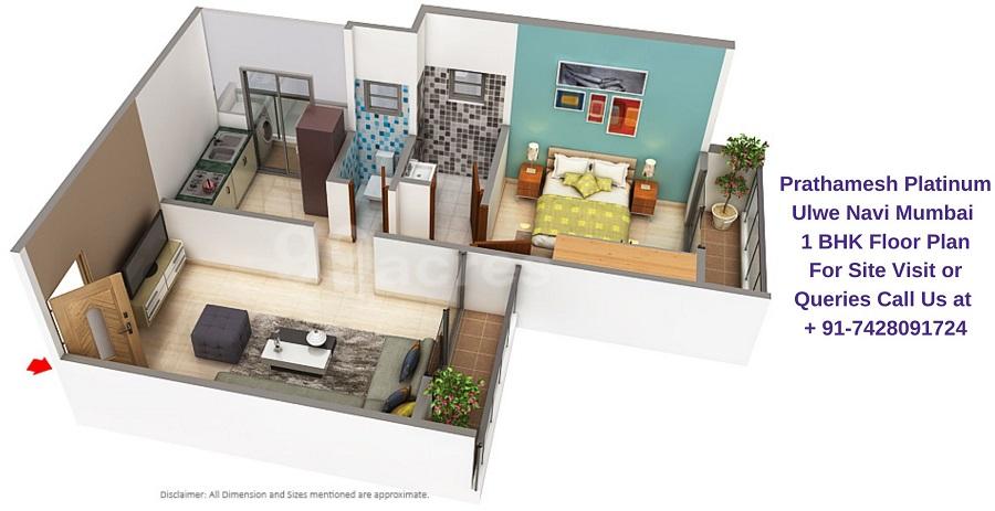 Prathamesh Platinum Ulwe Navi Mumbai 1 BHK Floor Plan