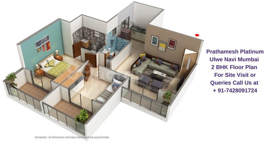 Prathamesh Platinum Ulwe Navi Mumbai 2 BHK Floor Plan