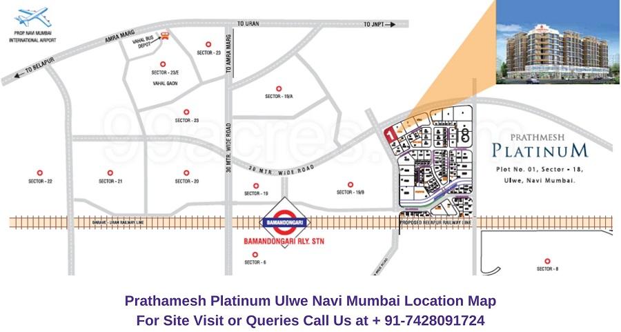 Prathamesh Platinum Ulwe Navi Mumbai Location Map