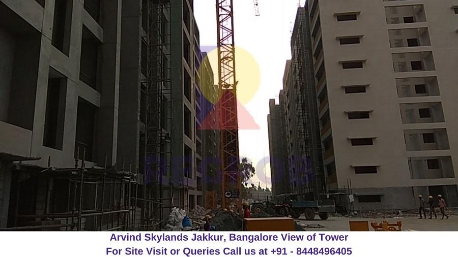 Arvind Skylands Jakkur, Bangalore View of Tower