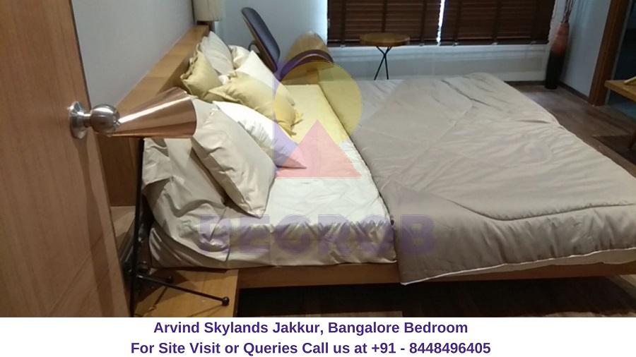 Arvind Skylands Jakkur, Bangalore bedroom (2)