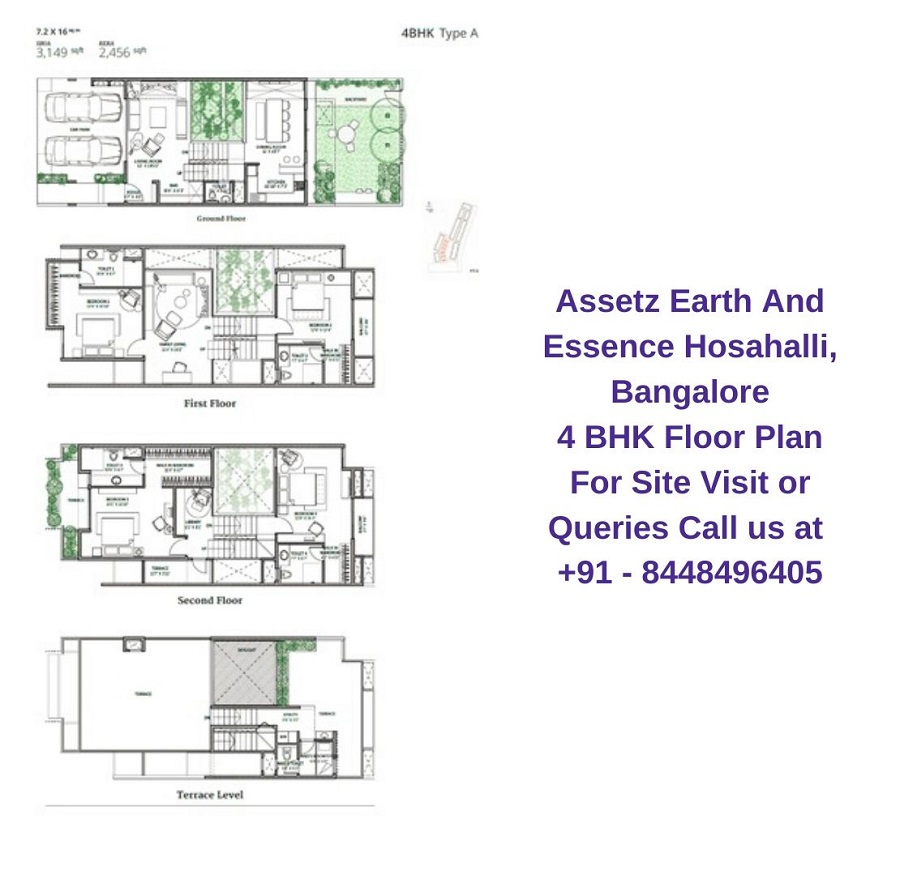 Assetz Earth And Essence Hosahalli, Bangalore 4 BHK Floor Plan