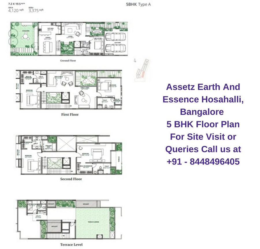 Assetz Earth And Essence Hosahalli, Bangalore 5 BHK Floor Plan