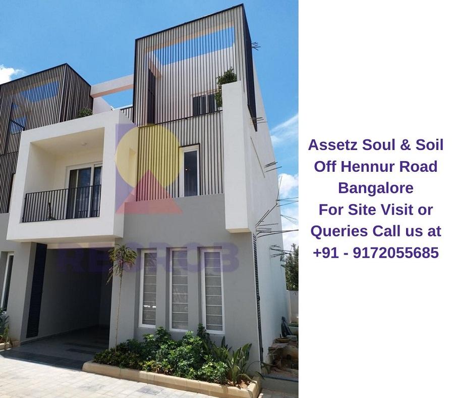 Assetz Soul & Soil Off Hennur Road Bangalore Actual View of Villa