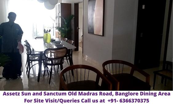 Assetz Sun and Sanctum Old Madras Road Banglore Dining Area