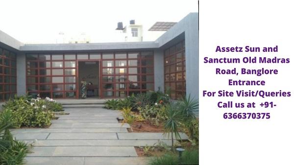 Assetz Sun and Sanctum Old Madras Road Banglore Entrance