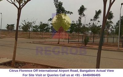 Citrus Florence Off International Airport Road, Bangalore Actual View of Site