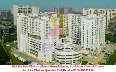 DLF My Pad Vibhuti Khand Gomti Nagar, Lucknow Actual View of Tower (2)