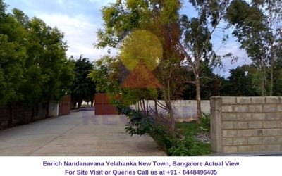 Enrich Nandanavana Yelahanka New Town, Bangalore Actual View of Site