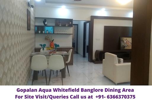 Gopalan Aqua Whitefield Bangalore Dining Area