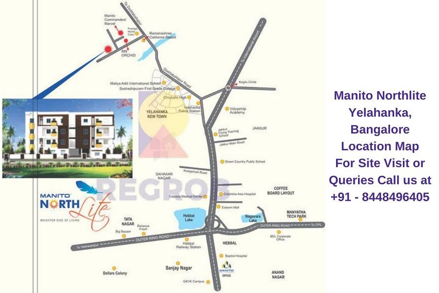 Manito Northlite Yelahanka, Bangalore Location Map