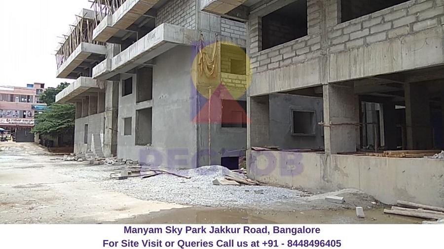 Manyam Sky Park Jakkur Road, Bangalore Actual View of Project