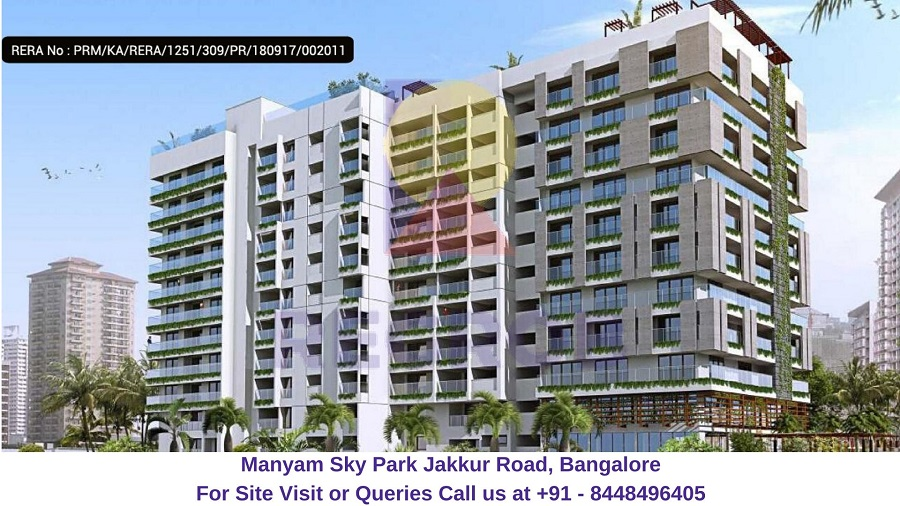 Manyam Sky Park Jakkur Road, Bangalore Elevated View