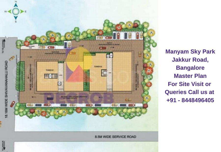 Manyam Sky Park Jakkur Road, Bangalore Master Plan