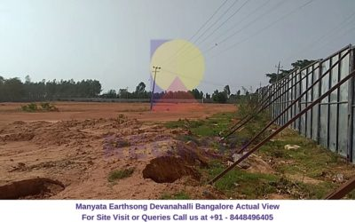 Manyata Earthsong Devanahalli Bangalore Actual View of Site