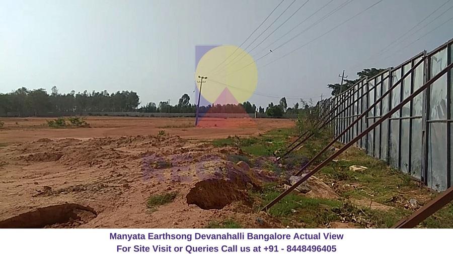 Manyata Earthsong Devanahalli Bangalore Actual View of Site