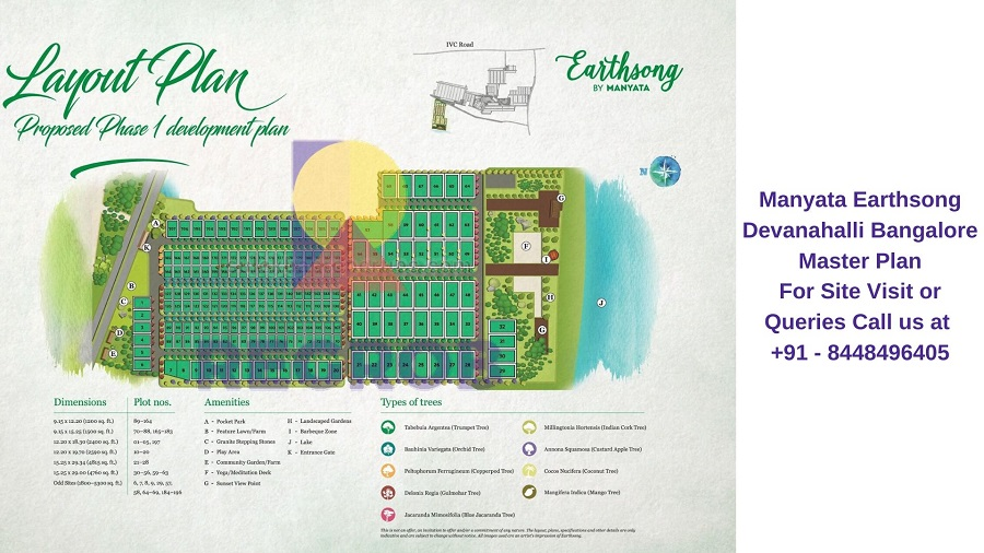 Manyata Earthsong Devanahalli Bangalore Master Plan