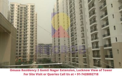 Omaxe Residency 2 Gomti Nagar Extension, Lucknow Actual View of Tower (2)