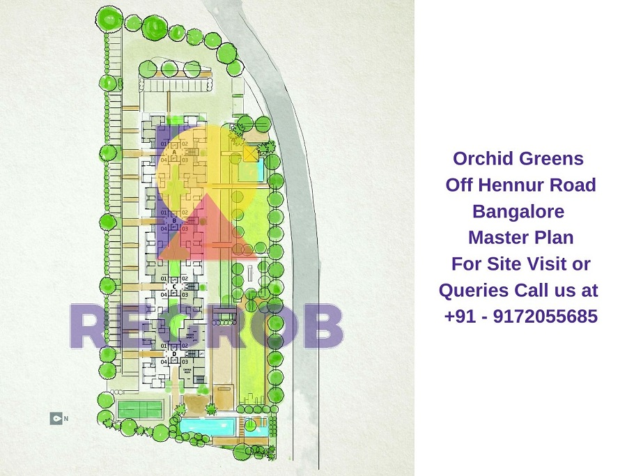 Orchid Greens Off Hennur Road Bangalore Master Plan